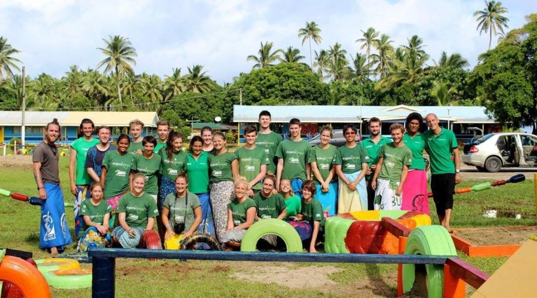 Haischutz projekt auf fidschi - gemeindearbei